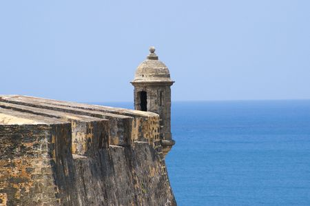 rico: san cristobal fort in san juan de puerto rico  Stock Photo