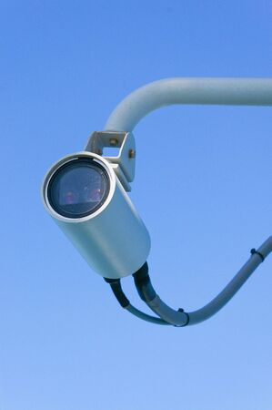 surveillance camera with two lenses on sky photo