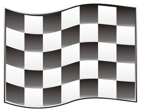race flag with black background, speed!!! Vector