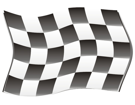 race flag with wind effect, speed!!! Vector