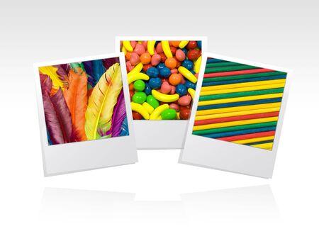 put: photo frame, textures, put your memories on   Stock Photo