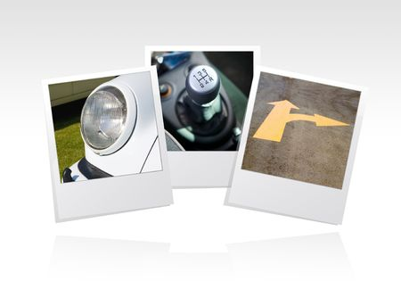 photo frame, cars, put your memories on Stock Photo - 3408060