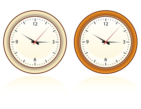 set of two wall clock for home and office Vector