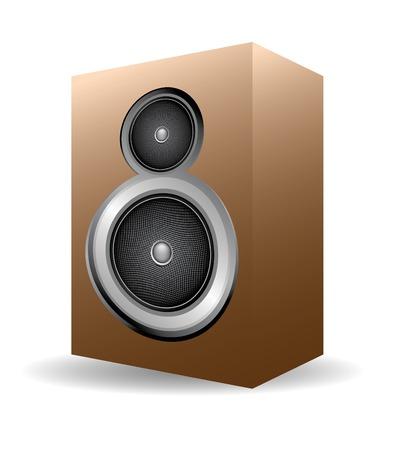 wood speaker set, vintage electronic of 70´s Vector