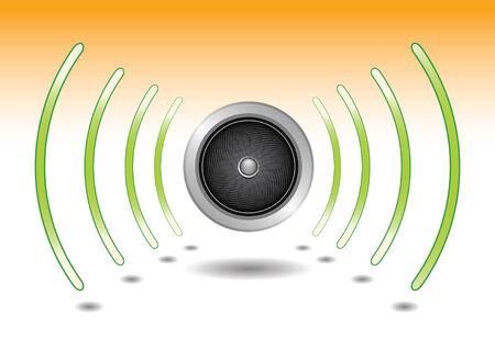 spreker golven van geluid, zet het volume