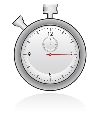time lapse: chronometer in silver colors, check the time Illustration