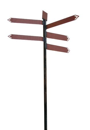 lost in space: direction sign isolated, find your way