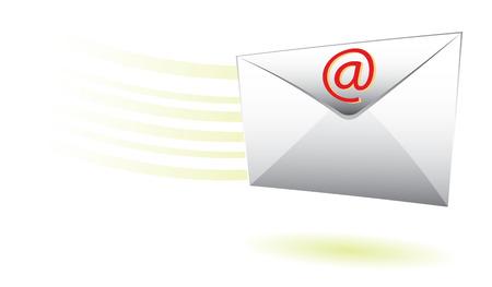 snelle e-mail envelop voor de levering van het web