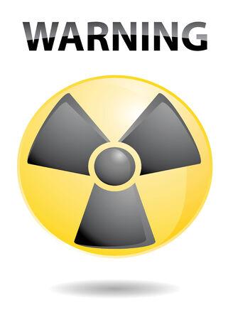 advise: yellow radition icon circle with warning advise