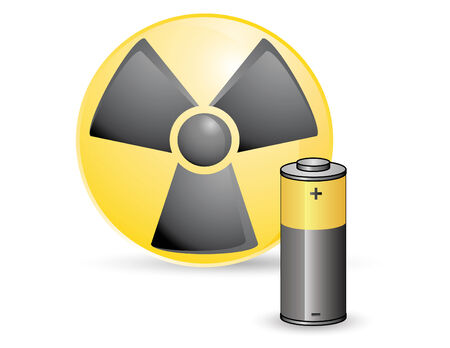 toxic battery design, care the world, recycle Stock Vector - 3620086
