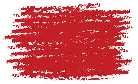czerwony pędzel tekstury grunge styl w trybie wektorowym