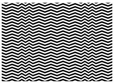 黒と白、ベクターのジグザグのテクスチャ  イラスト・ベクター素材