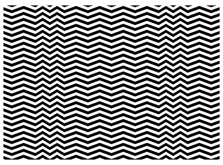 zigzag textuur in vector, zwart-wit Stock Illustratie