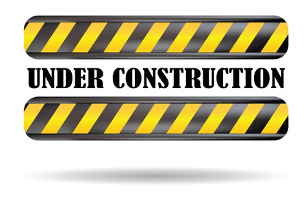 grunge: under construction clean sign in white