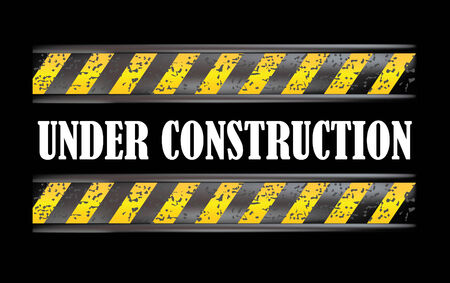 under construction dirty sign in black Vector