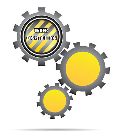 under construction gear in yellow for web site Stock Vector - 3670014