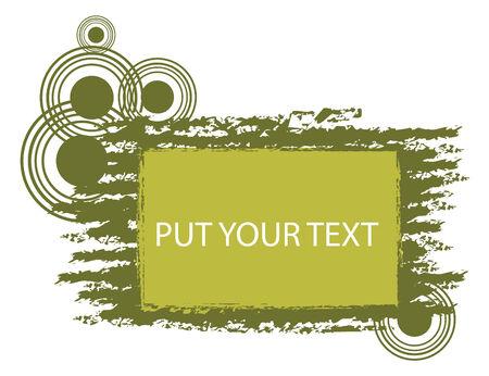 put: green grunge frame set for put your text Illustration
