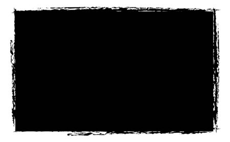 edges: black photo grunge frame in vector