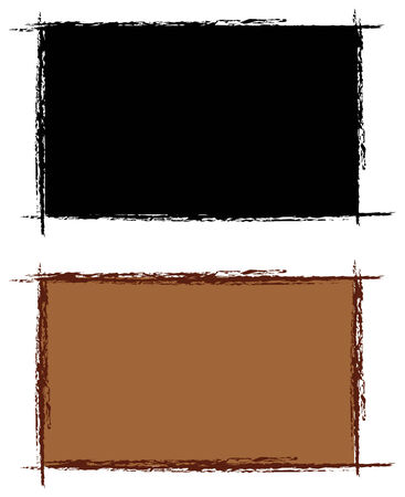 set of two photo grunge frames in vector Vector