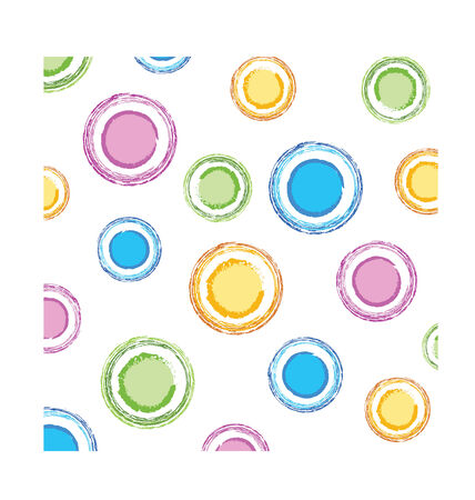 color circles texture for kids or cloth Stock Vector - 3723959