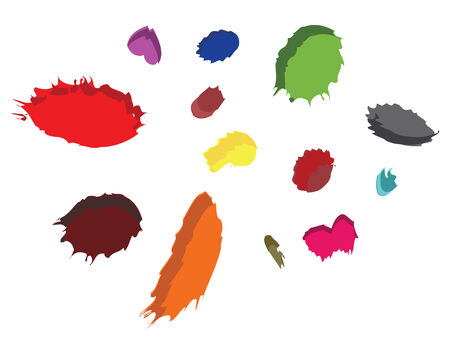 color paint dots of digital art Illustration