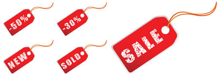sale tags in grunge for xmas shopping Stock Vector - 3723969