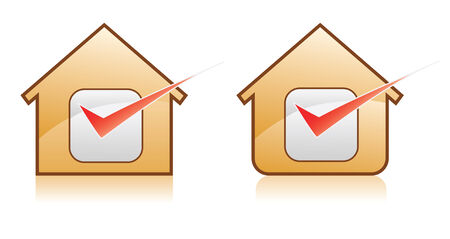 two home icons for good check Vector