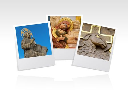 photo frame with religious icons photo