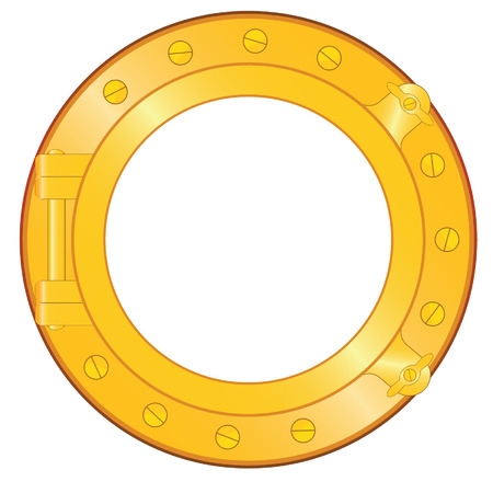 porthole from old ship isolated Stock Vector - 3865878