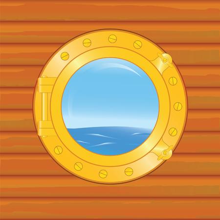vecchia nave: obl� da vecchia nave Vettoriali