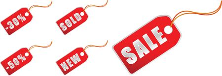 sale tags in silver color for xmas shopping photo