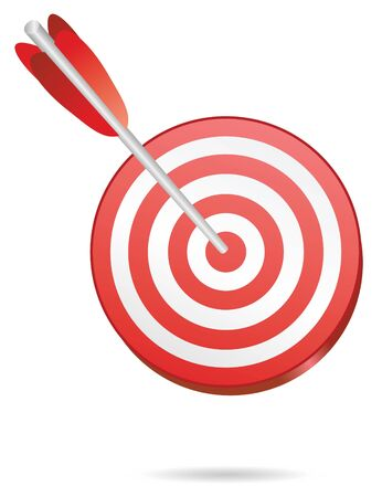 target on red with one arrow Stock Photo - 4030267