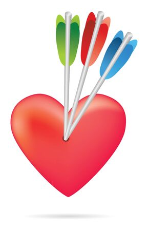 arrow heart in brigth colors Stock Photo - 4030066
