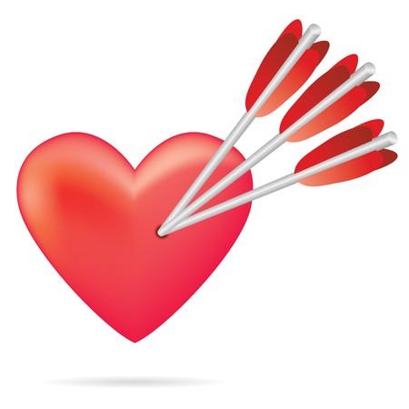 arrow heart in red tones Stock Photo - 4030064