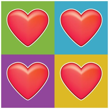 four hearts for decor many thigs Stock Photo - 4030279