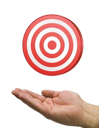 hand and  red  target