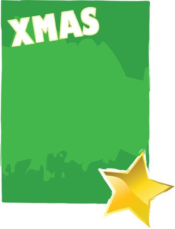 xmas card with yellow star Stock Photo - 4030061
