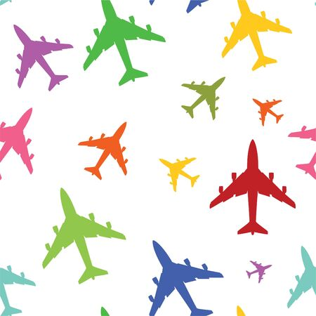 kids' room: airplane color texture for kids room Stock Photo