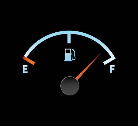 Gas gevulde meter in blauwe kleuren Stockfoto - 4045482