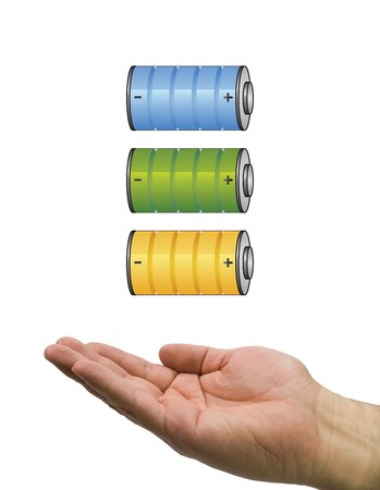 battery with hand photo