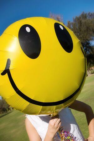 happy face balloon for fun photo