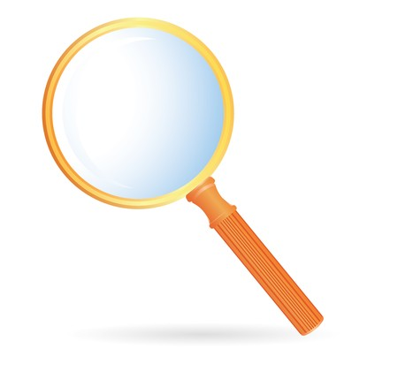 magnification glass with orange handler photo