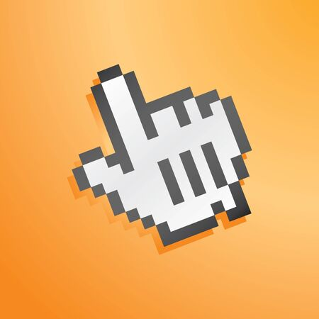 mouse hand icon orange for wallpaper photo