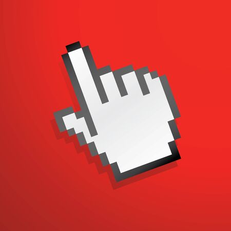 mouse hand icon red for wallpaper Stock Photo - 4045486