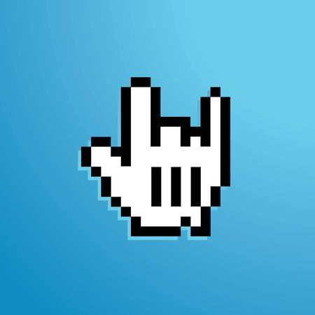 mouse icon rock sign two fingers up photo