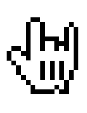 mouse icon rock sign two fingers up