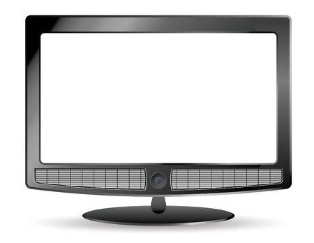hdtv: plasma tv and speakers empty Stock Photo