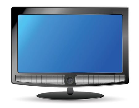 plasma tv and speakers Stock Photo - 4045491