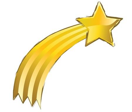 etoiles filante: Etoile filante jaune avec mode gounge Banque d'images