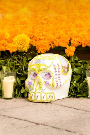 skull in offering dia de muertos Stock Photo - 4045511